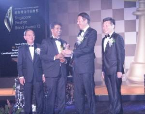 2012 Singapore Prestige Brand Award – for its clinic – PHYSIO ASIA THERAPY CENRE